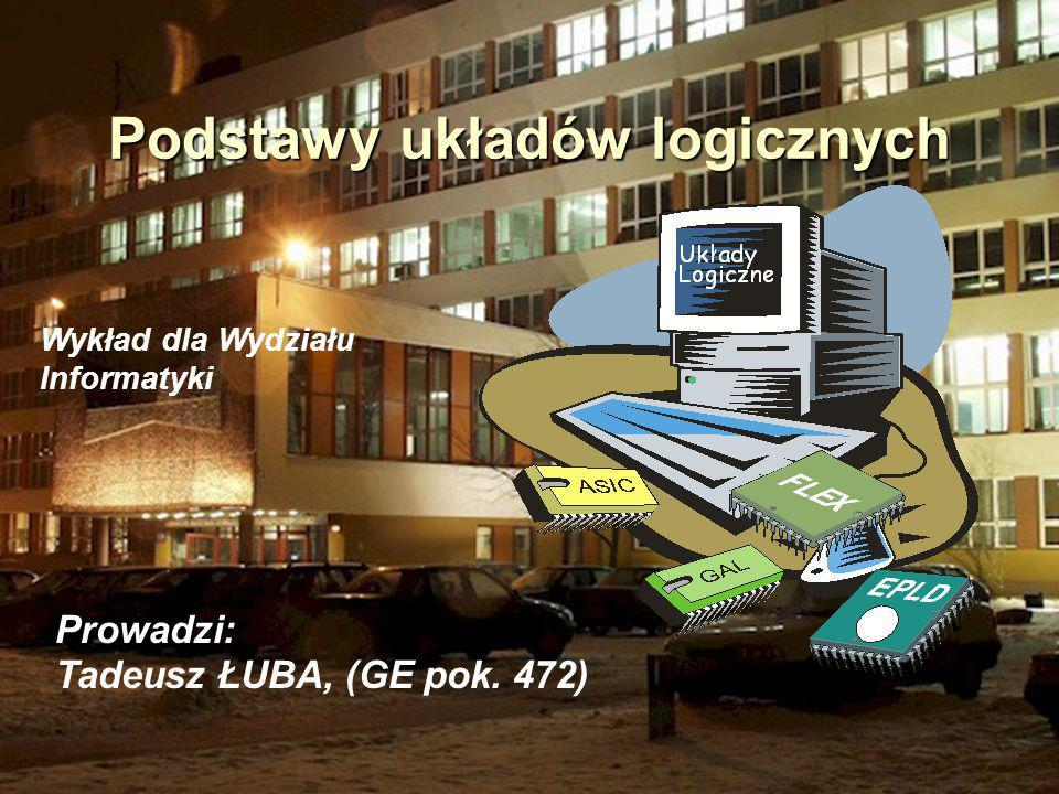 Realizacja funkcji F w systemie Quartus QuartusII -- 02-05-14 09:21:40 -- PLA -> VHDL converter ver.1.02 library IEEE; use IEEE.STD_LOGIC_1164.all; entity bul is port(i : in std_logic_vector(1 to 10); port(i : in std_logic_vector(1 to 10); o : out std_logic_vector(1 to 2)); o : out std_logic_vector(1 to 2)); end bul; architecture arch1 of bul is begin PLA: process(i) begin begin case i is case i is when 0101000000 => o o <= 00 ; when 1110100100 => o o <= 00 ; when 0010110000 => o o <= 10 ; when 0101001000 => o o <= 10 ; when 1110101101 => o o <= 01 ; when 0100010101 => o o <= 01 ; when 1100010001 => o o <= 00 ; when 0011101110 => o o <= 01 ; when 0001001110 => o o <= 01 ; when 0110000110 => o o <= 01 ; when 1110110010 => o o <= 10 ; when 0111100000 => o o <= 00 ; when 0100011011 => o o <= 00 ; when 0010111010 => o o <= 01 ; when 0110001110 => o o <= 00 ; when 0110110111 => o o <= 11 ; when 0001001011 => o o <= 11 ; when 1110001110 => o o <= 10 ; when 0011001011 => o o <= 10 ; when 0010011010 => o o <= 01 ; when 1010110010 => o o <= 00 ; when 0100110101 => o o <= 11 ; when 0001111010 => o o <= 00 ; when 1101100100 => o o <= 10 ; when 1001110111 => o o <= 11 ; when others => o o <= XX ; end case; end case; end process; end process;end;