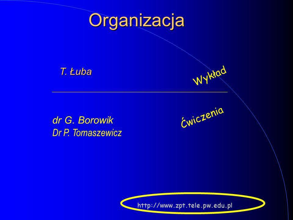 1 Podstawy układów logicznych Prowadzi: Tadeusz ŁUBA, (GE pok. 472) Wykład dla Wydziału Informatyki