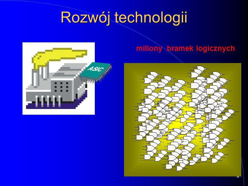 9 miliony bramek logicznych Rozwój technologii