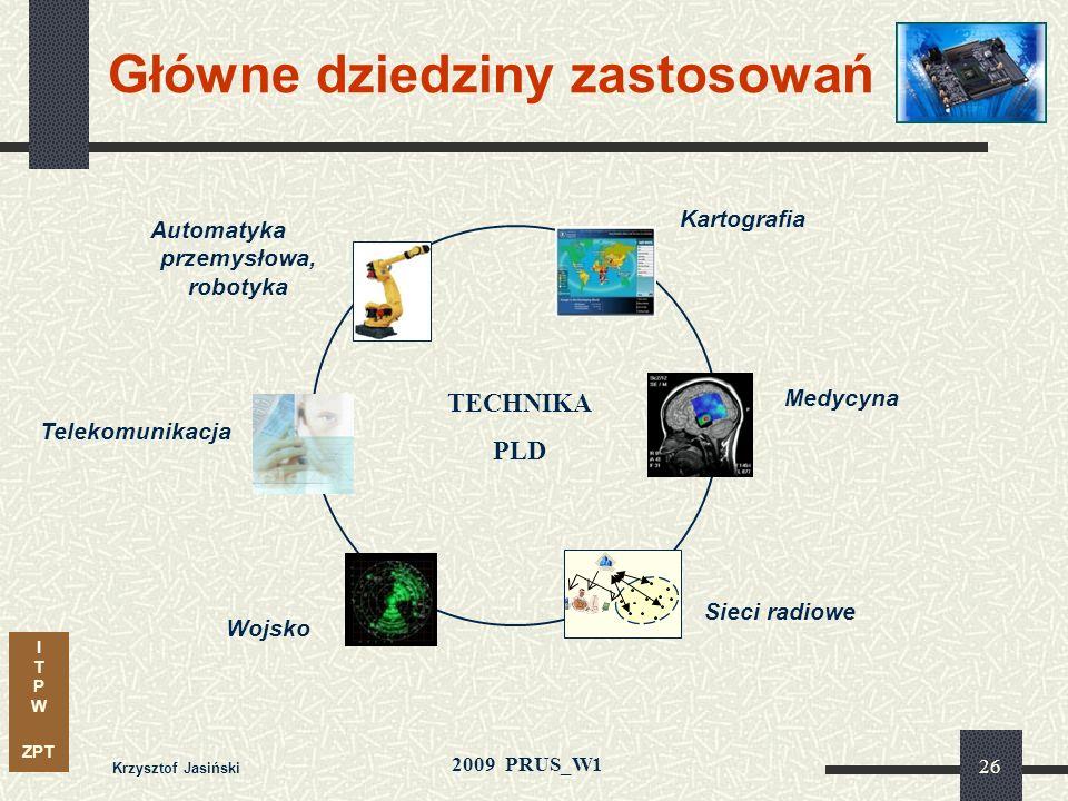 I T P W ZPT 2009 PRUS_W1 Krzysztof Jasiński 25 Porównanie technik realizacji: FPGA vs. ASIC & ASSP Czynniki pozytywne - akcentujace walory rozwiązań w