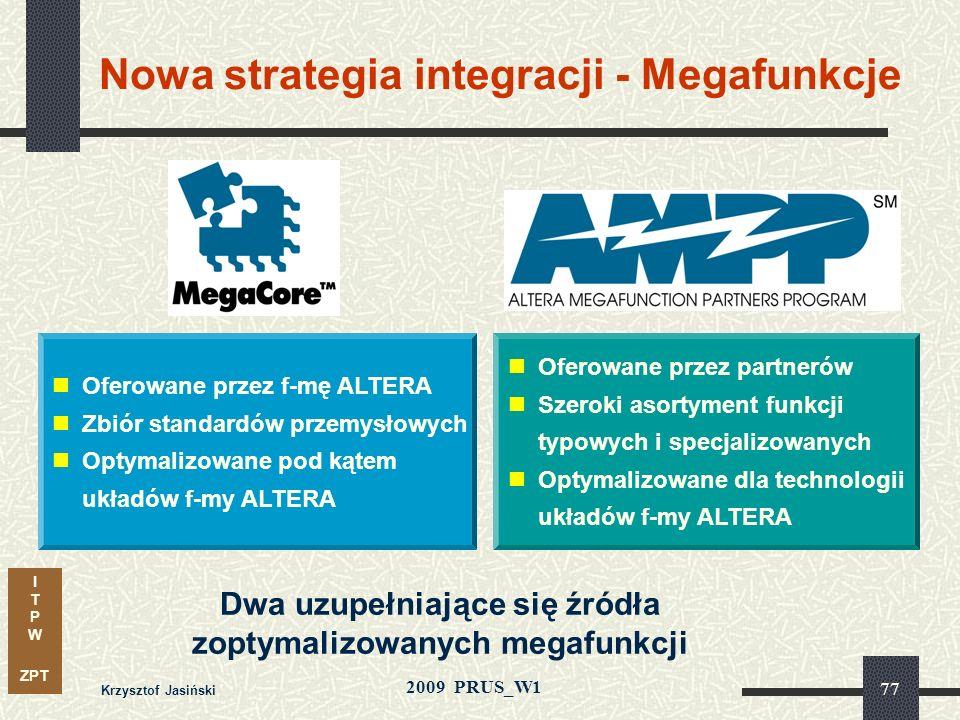 I T P W ZPT 2009 PRUS_W1 Krzysztof Jasiński 76 0 20 40 60 80 100 199619971998199920002001200220032004 % Wzrost układów ASIC zawierających IP Źródło: I