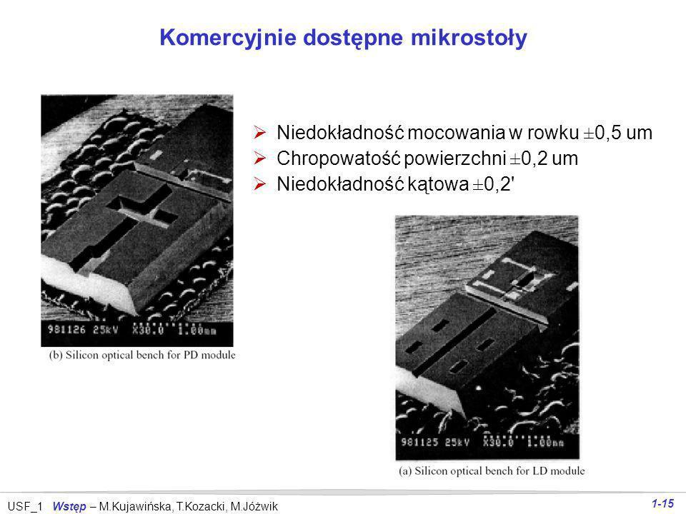 USF_1 Wstęp – M.Kujawińska, T.Kozacki, M.Jóżwik 1-14 Mikro-stoły optyczne Schemat widok modułu a) diody laserowej b) fotodiody mPD- fotodioda monitoru