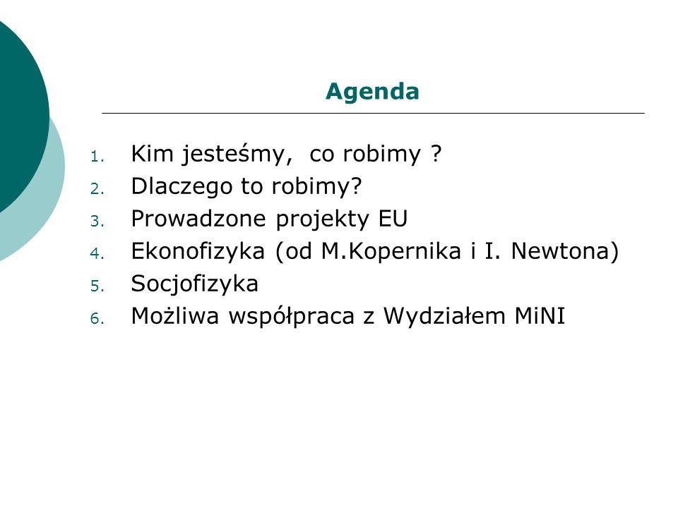 Skład Samodzielnej Pracowni FENS 1.Prof. Janusz Hołyst 2.