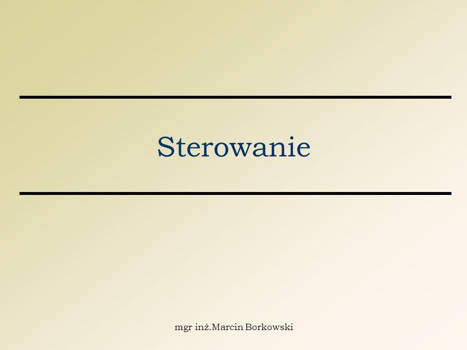 mgr inż.Marcin Borkowski Sterowanie