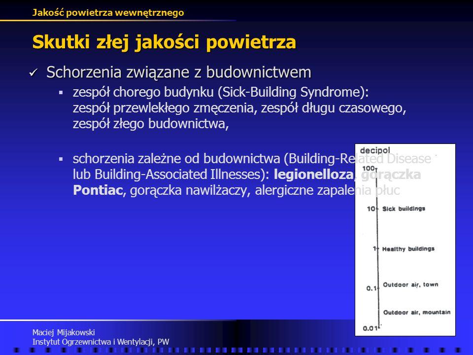 Jakość powietrza wewnętrznego Maciej Mijakowski Instytut Ogrzewnictwa i Wentylacji, PW Łączna ocena powietrza wewnętrznego Znaczenie Znaczenie Wargock