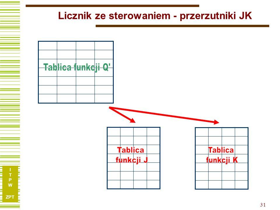 I T P W ZPT 31 Licznik ze sterowaniem - przerzutniki JK