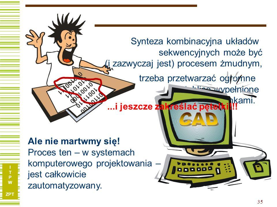 I T P W ZPT 35 Nie martwmy się... trzeba przetwarzać ogromne tablice wypełnione zerami i jedynkami. Ale nie martwmy się! Proces ten – w systemach komp