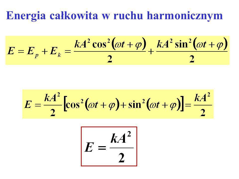 Energia całkowita w ruchu harmonicznym