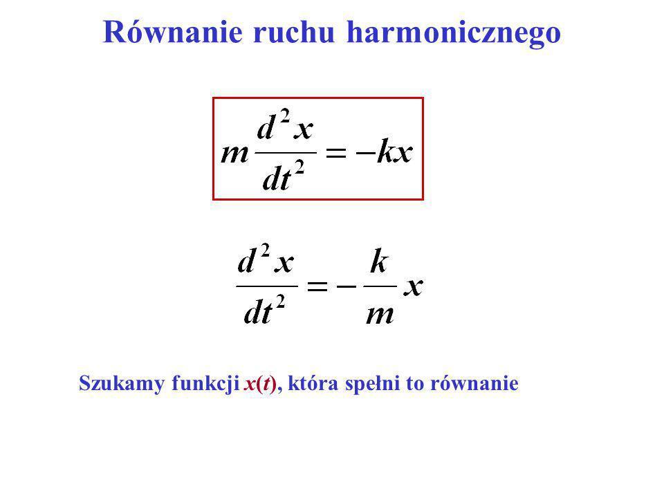 Drgania harmoniczne tłumione Tłumienie zwiększa okres: Amplituda zmniejsza się w czasie wykładniczo: