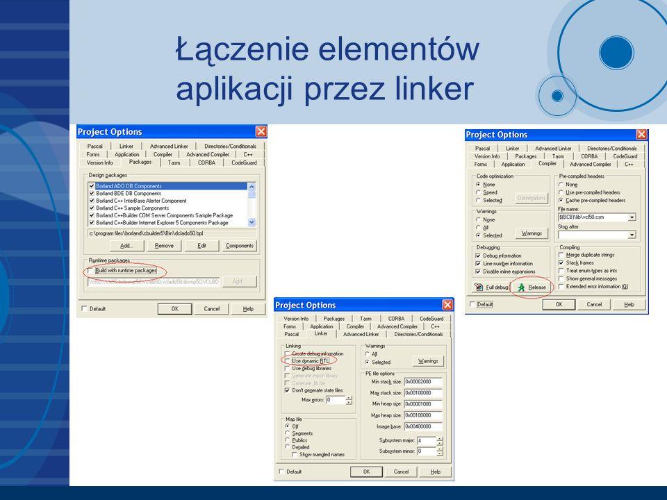 Łączenie elementów aplikacji przez linker