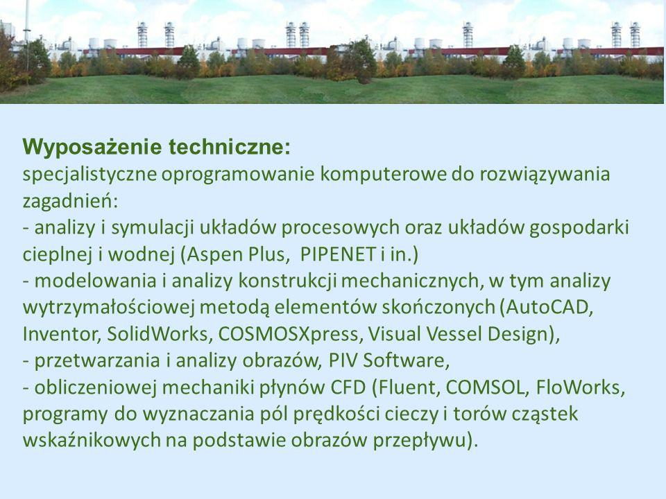 Wdrożenia: w zakresie racjonalizacji zużycia ciepła: modernizacja gospodarki cieplnej cukrowni (udział w kilkunastu projektach, np.