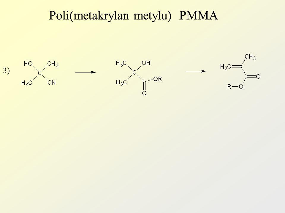Poli(metakrylan metylu) PMMA PMMA otrzymuje się głównie metodą blokową i suspensyjną.