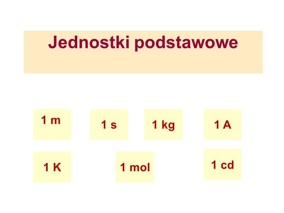 Jednostki podstawowe 1 m 1 s1 kg 1 K 1 A 1 mol 1 cd