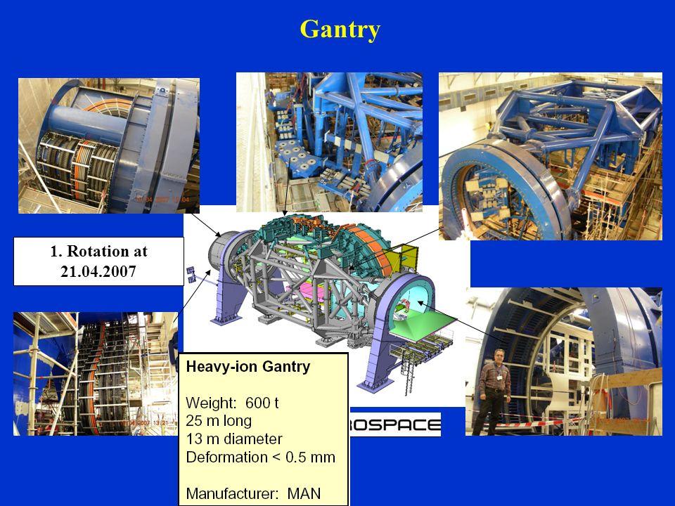Gantry 1. Rotation at 21.04.2007