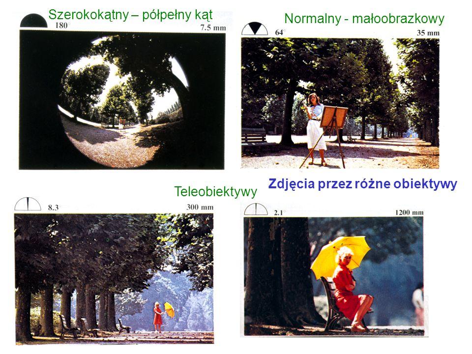 Szerokokątny – półpełny kąt Normalny - małoobrazkowy Teleobiektywy Zdjęcia przez różne obiektywy