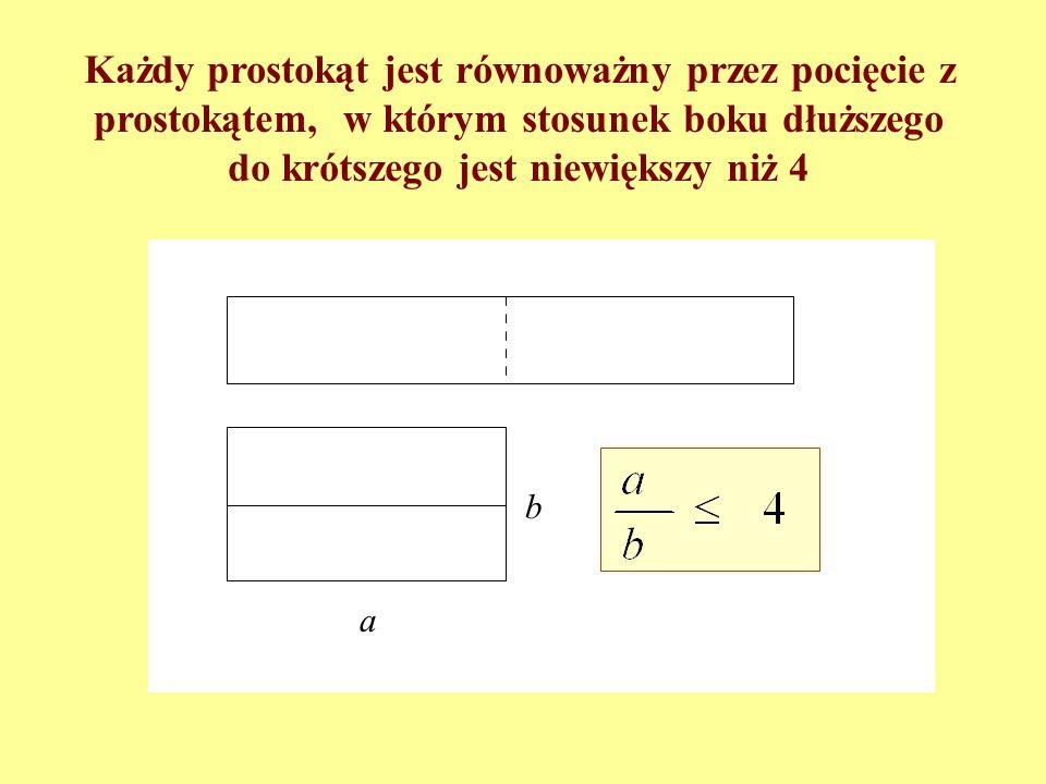 Kiedy c b? Z tw. Talesa, zatem Stąd c b równoważne, czyli a b c