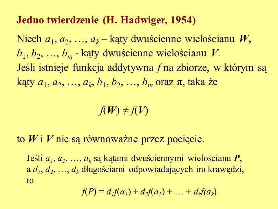 Funkcja f jest addytywna w zbiorze A, gdy dla dowolnych a 1, a 2, …, a k ze zbioru A i dowolnych liczb całkowitych c 1, c 2, …, c k z równości c 1 a 1