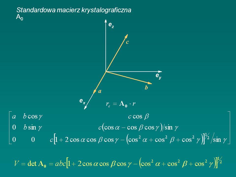 Standardowa macierz krystalograficzna A 0