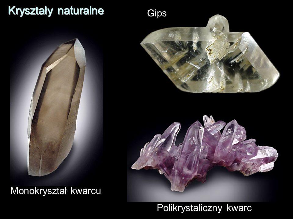 Polikrystaliczny kwarc Monokryształ kwarcu Gips Kryształy naturalne