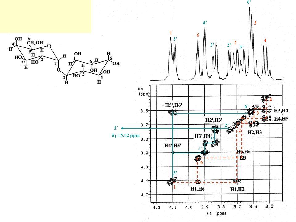 SPEKTROSKOPIA 13 C NMR P = (h /2 [I(I+1)] 1/2 = xP I( 1 H) = ½ I( 12 C) = 0I( 13 C) = ½ 1 H C E hB 0 naturalna zawartość 13 C w przyrodzie – 1.1% CZU Ł O ŚĆ 1 H = 5600xCZU Ł O ŚĆ 13 C Efekt Overhausera mo ż e wzmocni ć sygnał 13 C nawet trzykrotnie Max.