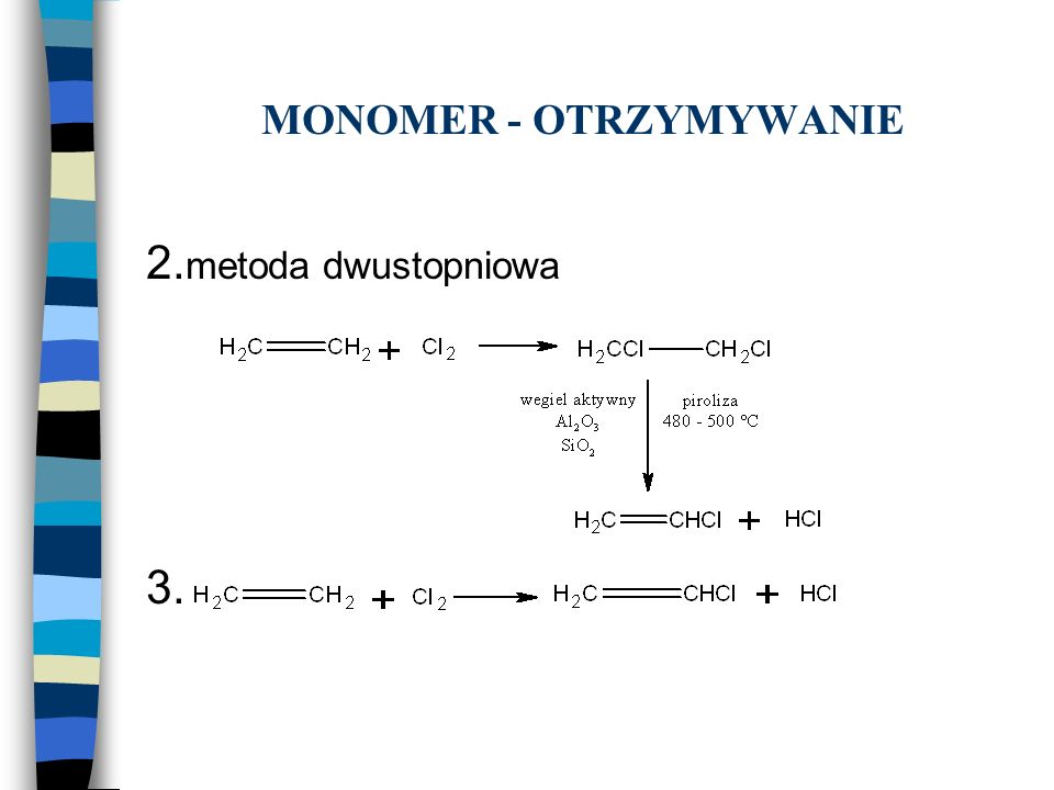 MONOMER - OTRZYMYWANIE 2. metoda dwustopniowa 3.