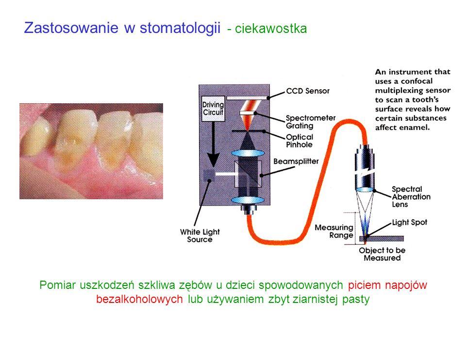 Medycyna cd Wpływ fotobiochemiczny He-Ne półprzewodnikowy barwnikowy 10 -10 Gęstość mocy 10 3 10 6 10 9 10 12 W/cm 2 Szerokość impulsu 10 -8 10 -6 10