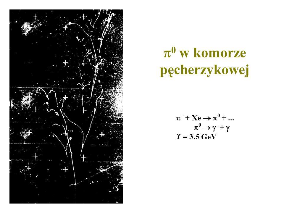 0 w komorze pęcherzykowej + Xe 0 +... 0 + T = 3.5 GeV