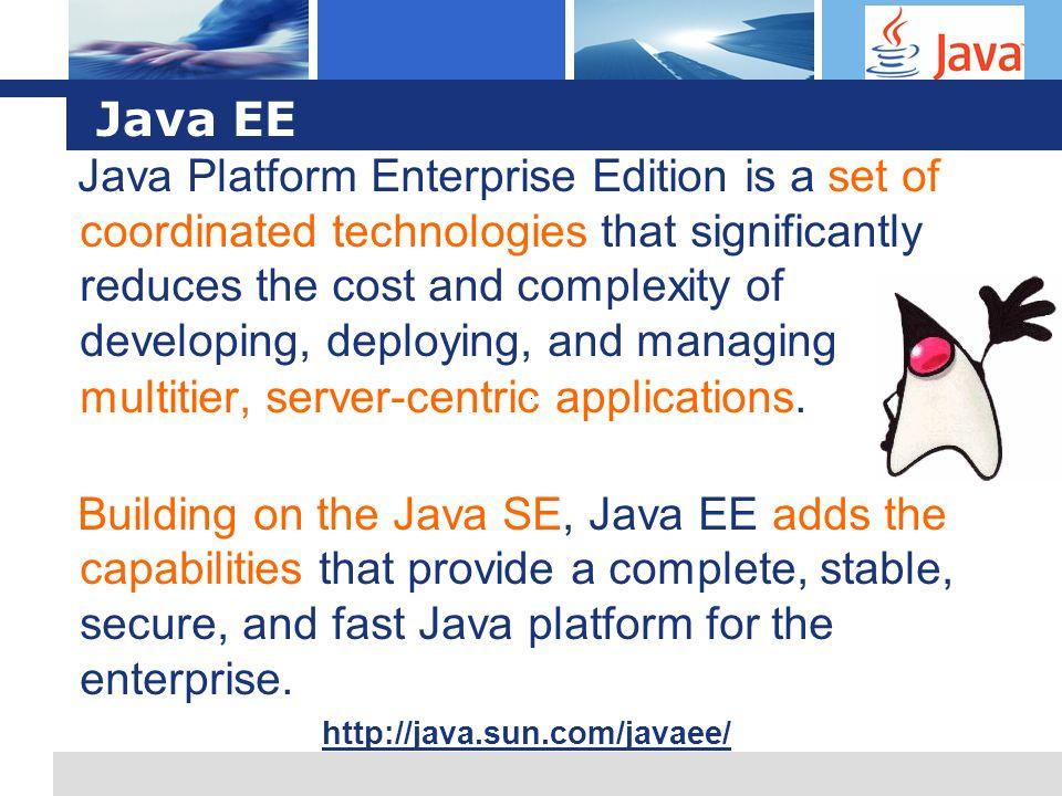 L o g o Java EE: Serwery aplikacji JEE to tylko specyfikacja.