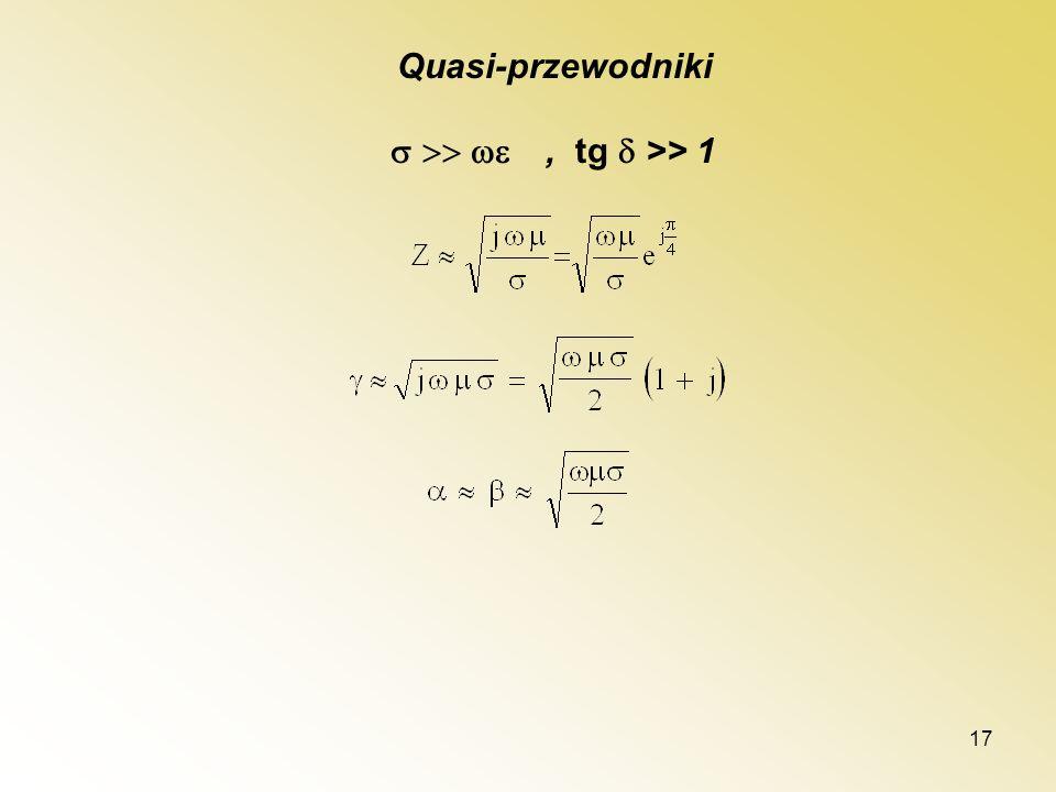 17 Quasi-przewodniki, tg >> 1