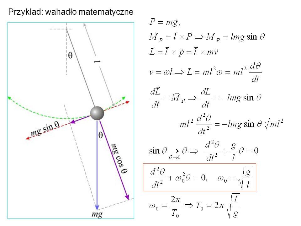 ENERGIA POTENCJALNA SPRĘŻYSTOŚCI Energia kinetyczna Maksymalna wartosć energii kinetycznej odpowiada sytuacji, gdy oscylator przechodzi przez położenie równowagi x=0.