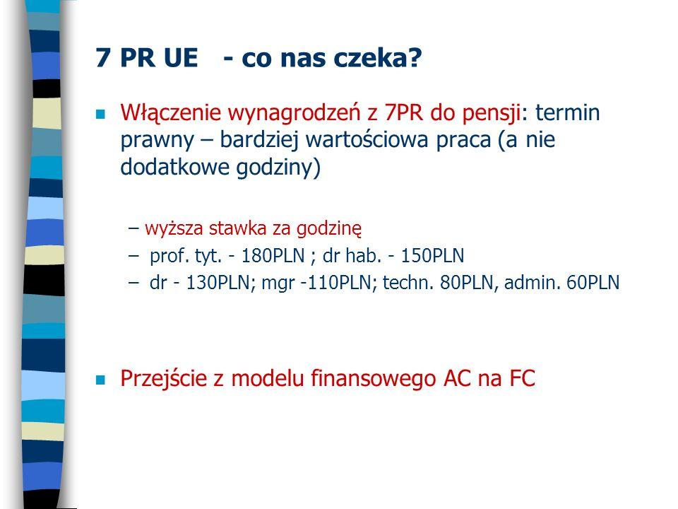 7 PR UE - co nas czeka? n Włączenie wynagrodzeń z 7PR do pensji: termin prawny – bardziej wartościowa praca (a nie dodatkowe godziny) – wyższa stawka