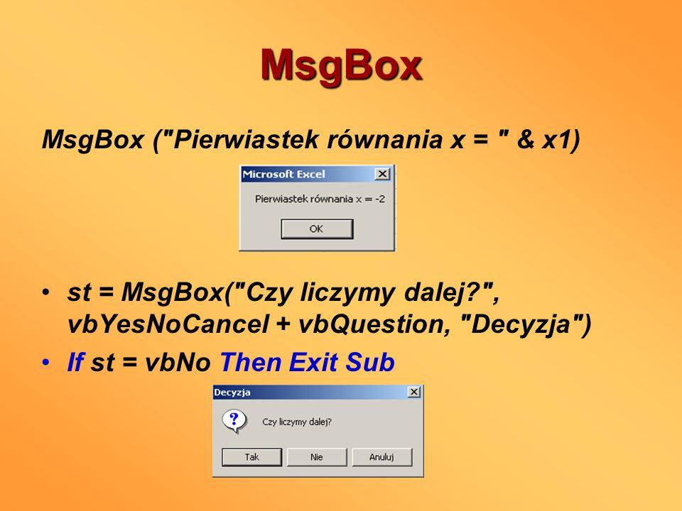 MsgBox MsgBox (