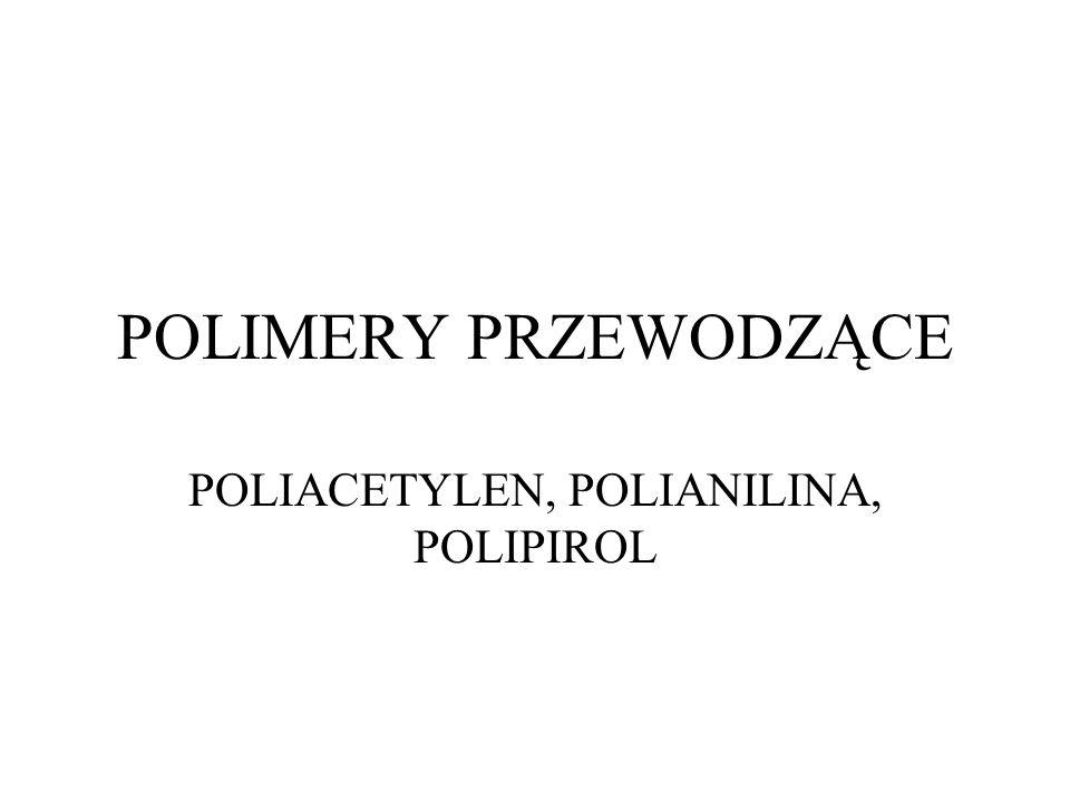 POLIMERY PRZEWODZĄCE POLIACETYLEN, POLIANILINA, POLIPIROL