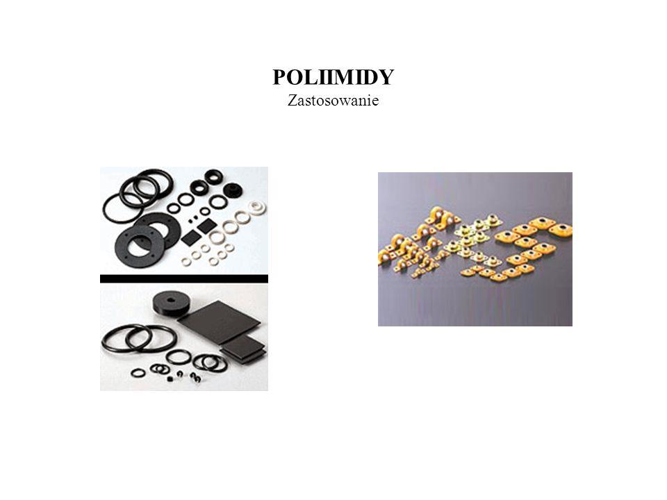 POLIANILINA Właściwości Stabilna od 0 – 300 C Przewodnictwo od 10 -3 d0 10 S/cm Praktycznie nierozpuszczalna w rozpuszczalnikach organicznych Wykazuje właściwości katalityczne (izomeryzacja butadienu) PANI otrzymywana w środowisku kwaśnym jest elektroaktywna przy pH 4 Właściwości półprzewodnikowe
