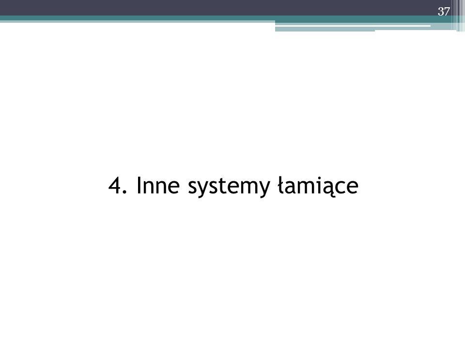 4. Inne systemy łamiące 37
