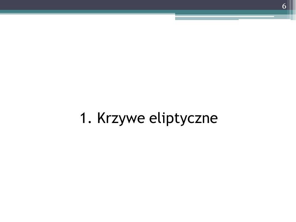 1. Krzywe eliptyczne 6