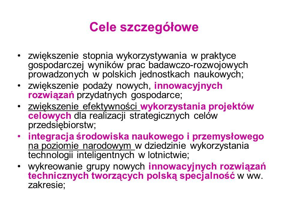 Promocja projektu Strona internetowa projektu http://pkaero.prz.edu.pl oraz informacje na stronach www CZT AERONET DL oraz stronach Partnerówhttp://pkaero.prz.edu.pl Coroczne konferencje projektowe (konferencja inaugurująca, 4 konferencje etapowe, oraz konferencja podsumowująca) oraz Spotkania Paneli Ekspertów Uczestnictwo zaangażowanych naukowców w krajowych i międzynarodowych konferencjach specjalistycznych Czynny udział przedstawicieli zespołów badawczych w seminariach, spotkaniach technologicznych, targach branżowych, Publikacje naukowe i naukowo-techniczne w renomowanych czasopismach specjalistycznych krajowych i zagranicznych.