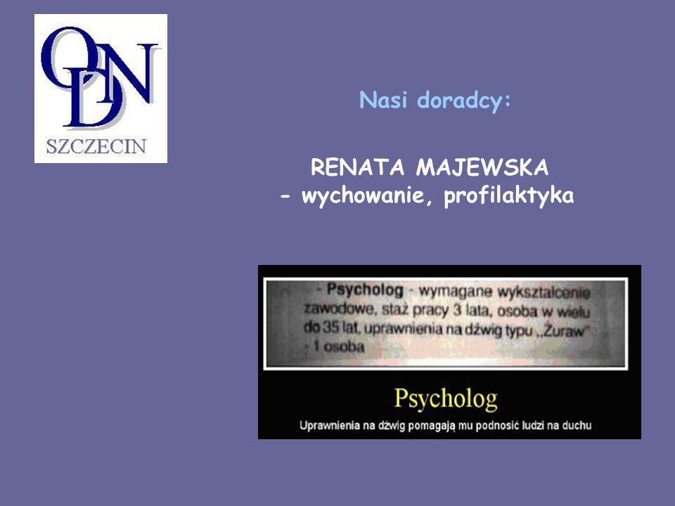 RENATA MAJEWSKA - wychowanie, profilaktyka Nasi doradcy: