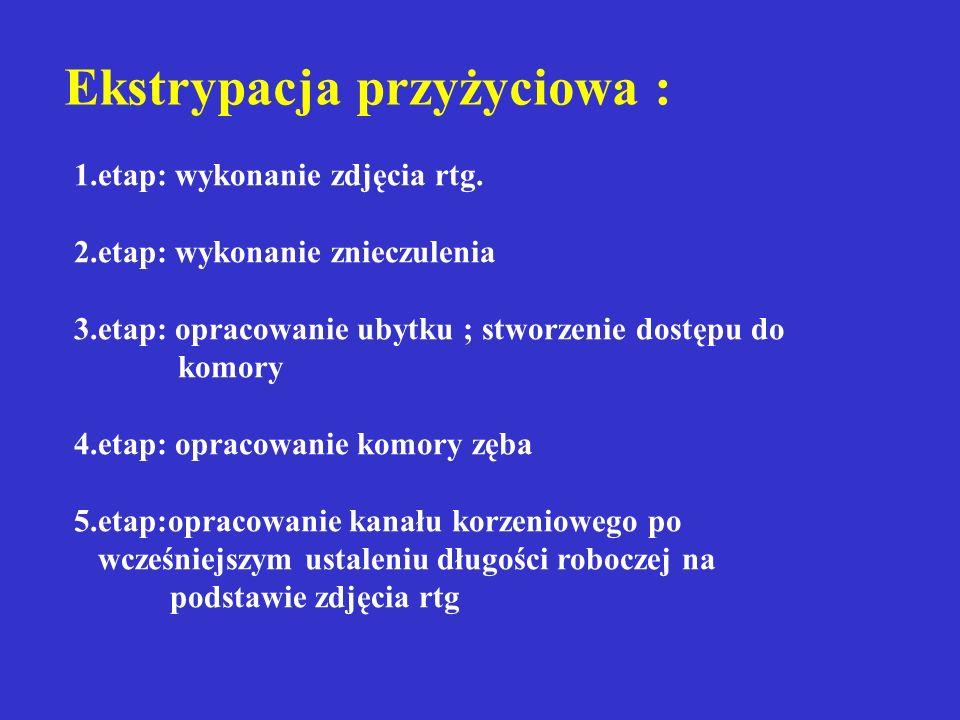 Ocena zdrowienia miazgi Brak objawów klinicznych Brak zmian patologicznych na rtg Kontynuacja rozwoju korzenia Wrażliwość na bodźce miazgi (termiczne