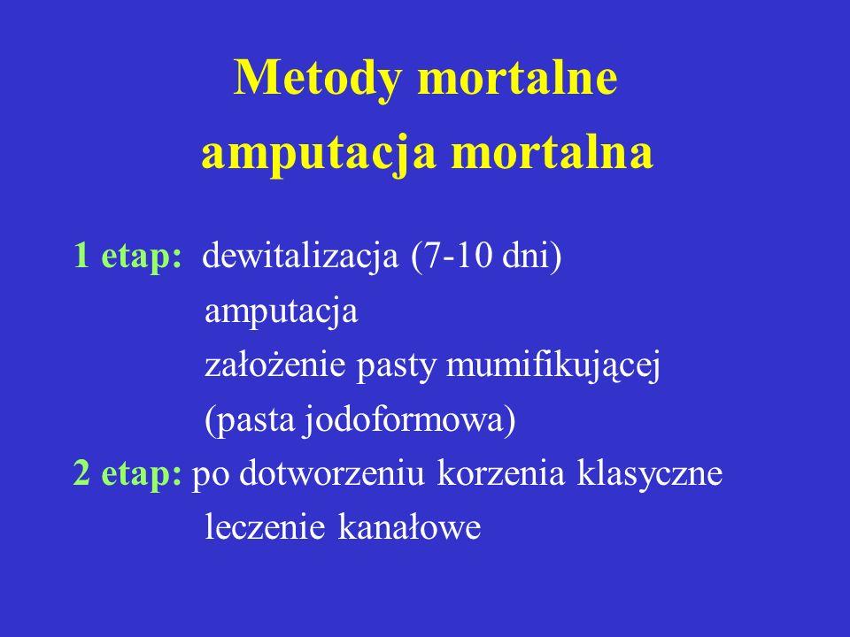 Metody mortalne I.Amputacja mortalna II.Ekstrypacja mortalna UWAGA: * stosowane wyjątkowo w przypadku braku możliwości znieczulenia ** zawsze podlegaj