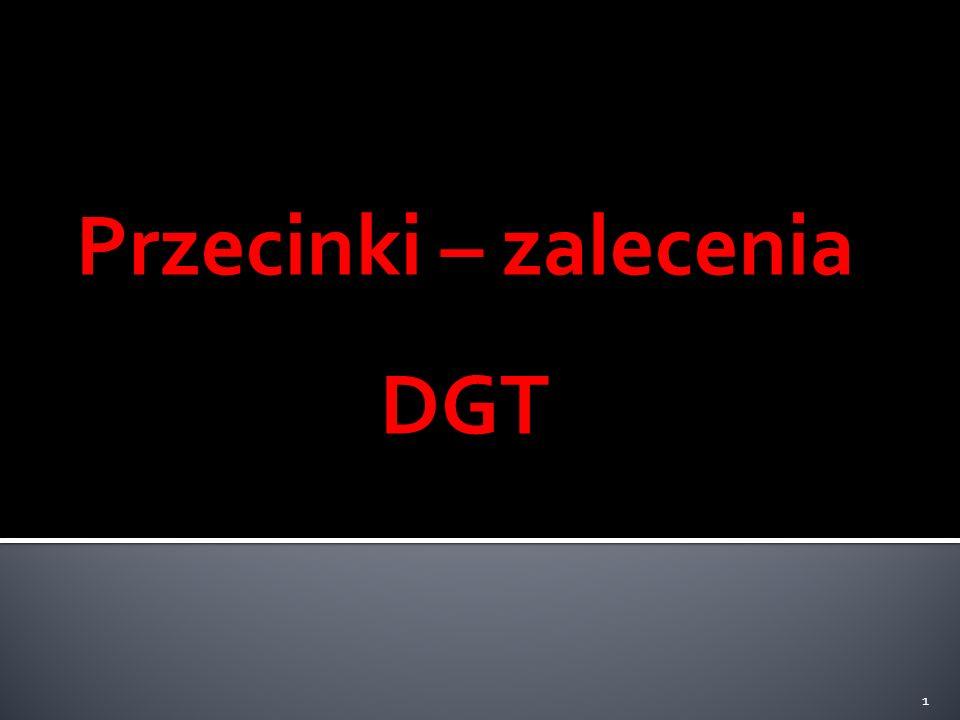 Przecinki – zalecenia DGT 1