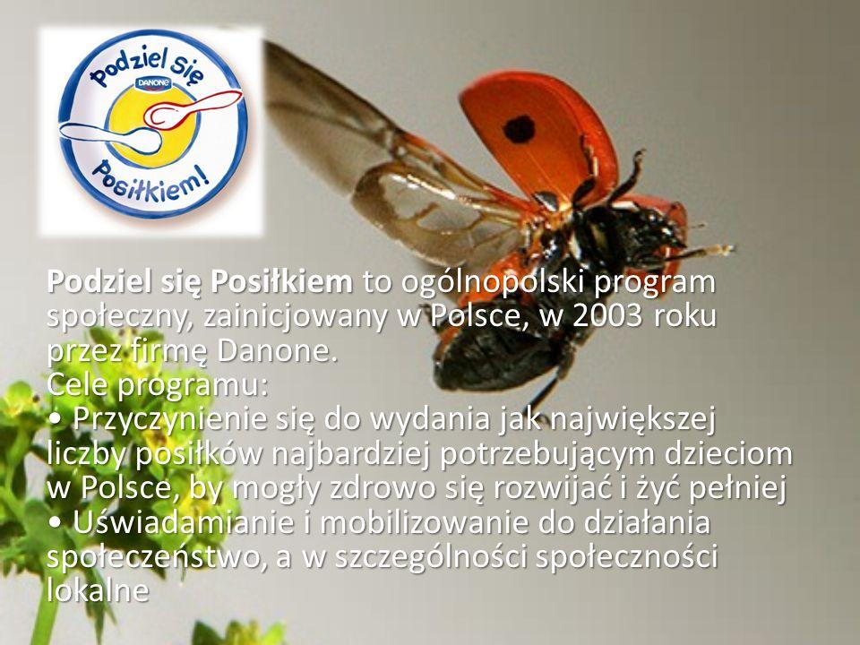 Podziel się Posiłkiem to ogólnopolski program społeczny, zainicjowany w Polsce, w 2003 roku przez firmę Danone. Cele programu: Przyczynienie się do wy