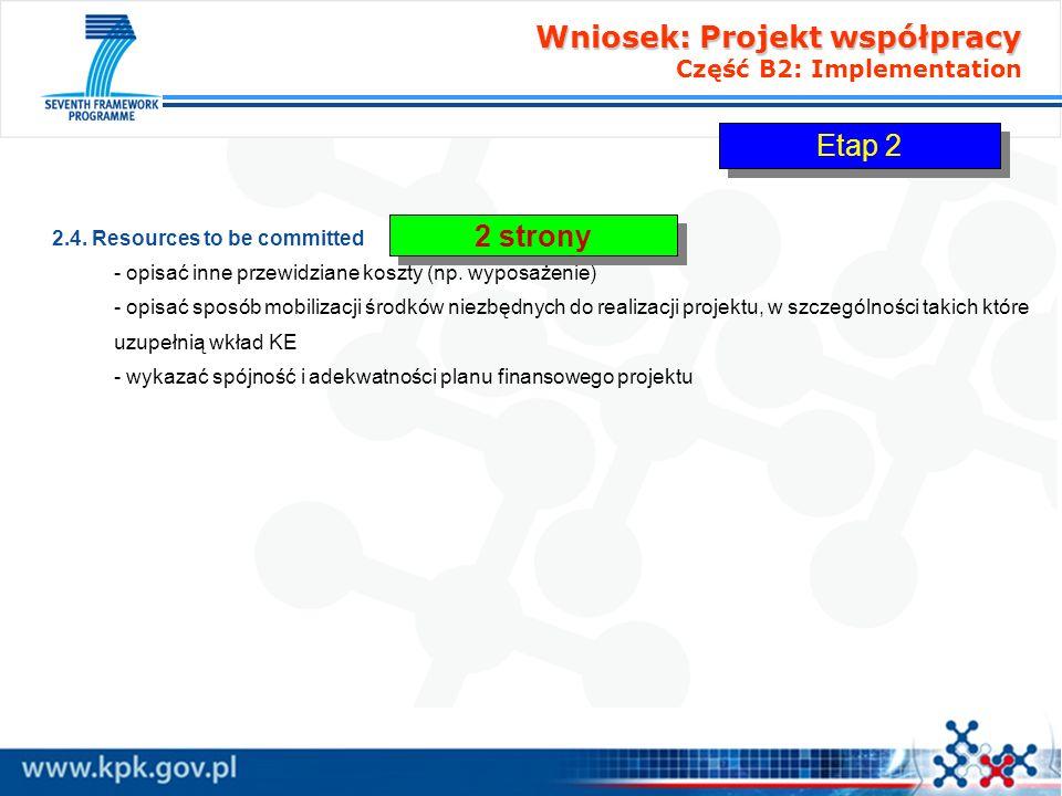 Wniosek: Projekt współpracy Wniosek: Projekt współpracy Część B3: Impact B3.