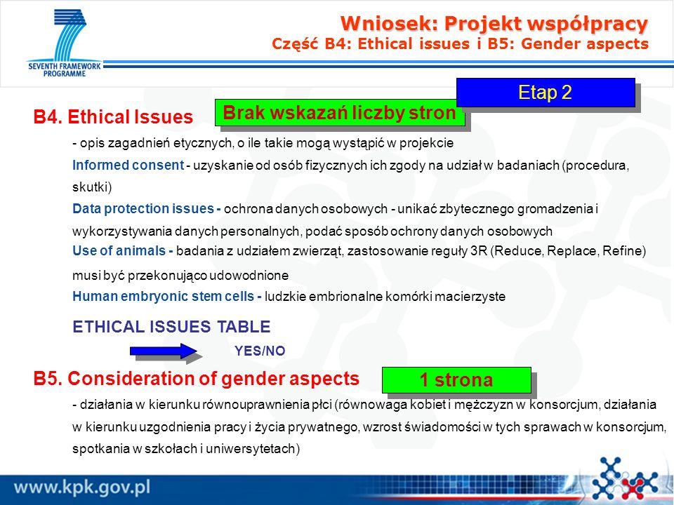 Wniosek: Projekt współpracy Wniosek: Projekt współpracy Część B6: Partnership and budget B6.