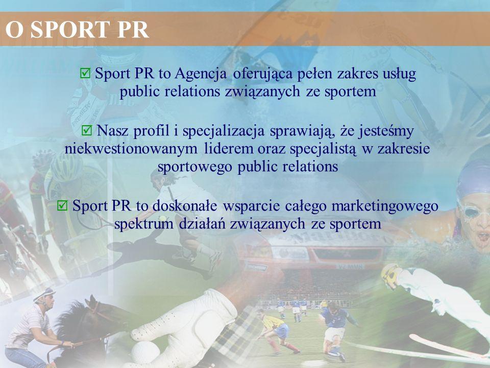 Sport PR to Agencja oferująca pełen zakres usług public relations związanych ze sportem Nasz profil i specjalizacja sprawiają, że jesteśmy niekwestion