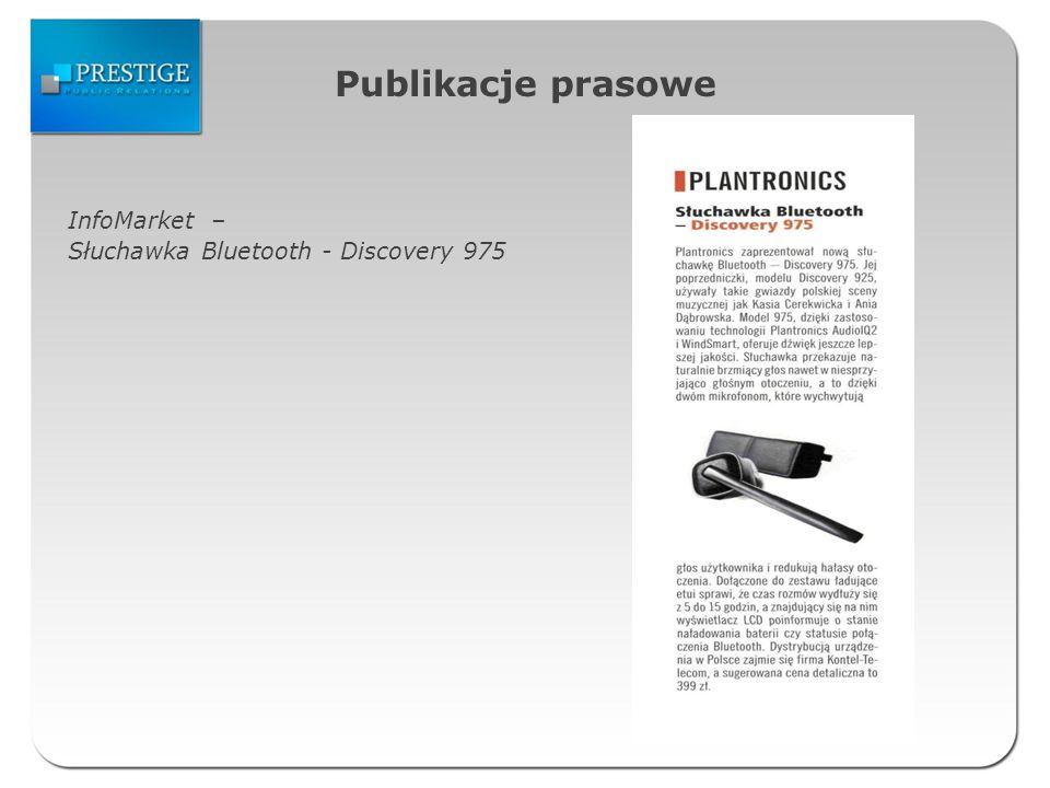 Publikacje prasowe InfoMarket – Słuchawka Bluetooth - Discovery 975