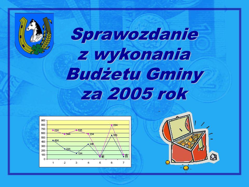 Sprawozdanie z wykonania Budżetu Gminy za 2005 rok