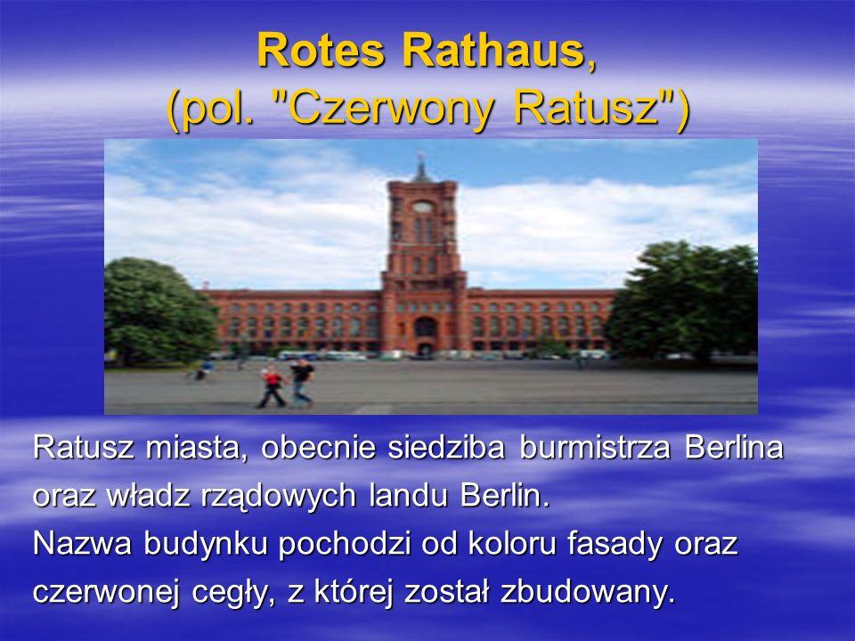 Rotes Rathaus, (pol.