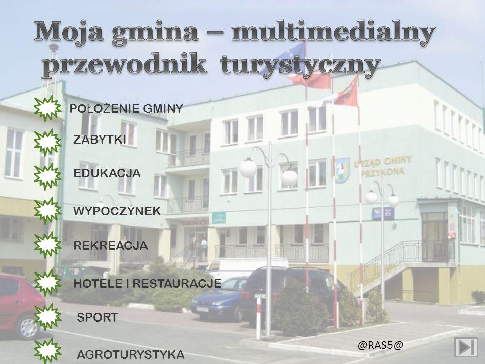 Geograficznie Gmina Przykona należy do obszaru Wielkich Dolin, środkowej części Niziny Polskiej, a ściślej do Niziny Wielkopolsko-Kujawskiej i mieści się na obszarze powiatu Tureckiego.Terytorialnie graniczy z województwem łódzkim.
