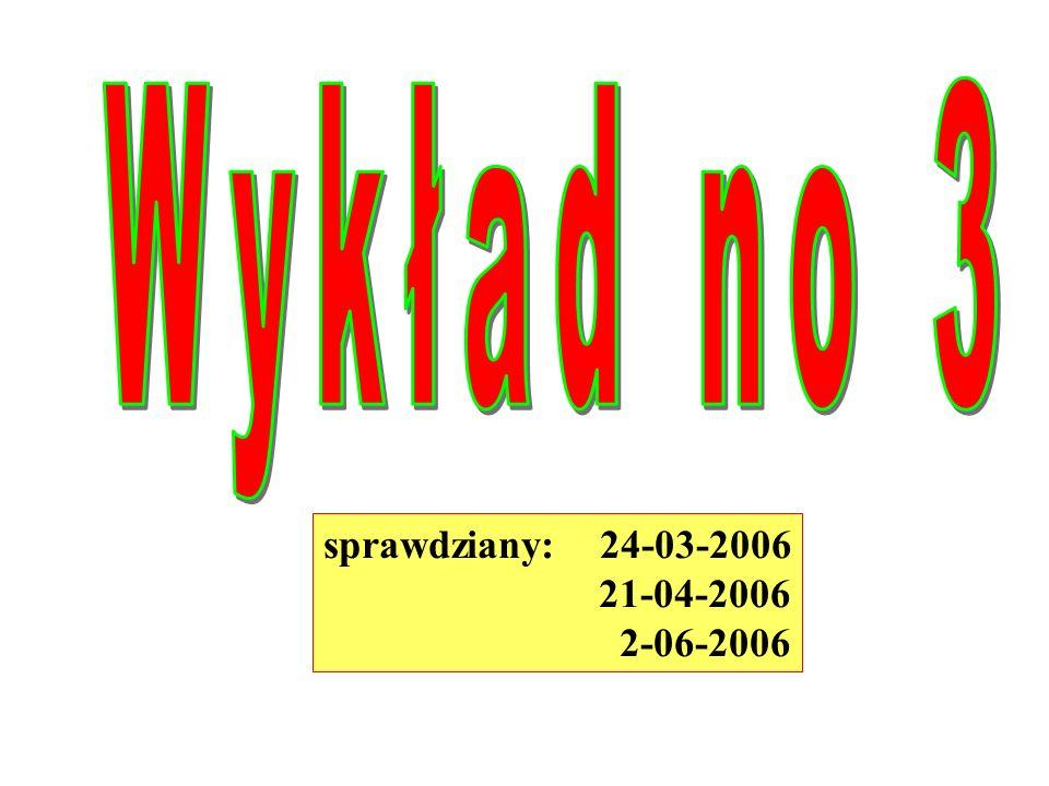 sprawdziany: 24-03-2006 21-04-2006 2-06-2006